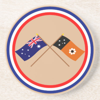 Australia y banderas cruzadas Territorio del Norte Posavasos Diseño