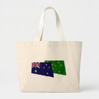 Australia y islas de Cocos que agitan banderas Bolsa
