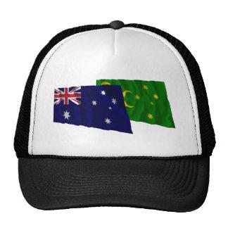 Australia y islas de Cocos que agitan banderas Gorro De Camionero