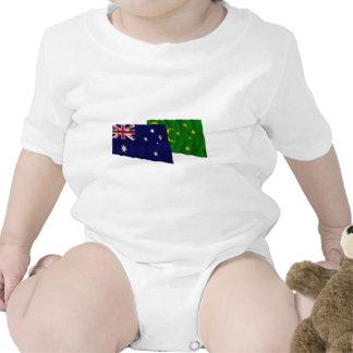 Australia y islas de Cocos que agitan banderas Camiseta