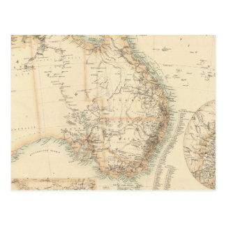 Australia y Nueva Zelanda Tarjeta Postal