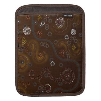 Australian Aboriginal Animal Tracks Desert Art Sleeve For iPads