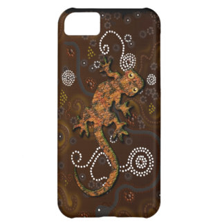 Australian Aboriginal Art Desert Gecko Cover For iPhone 5C