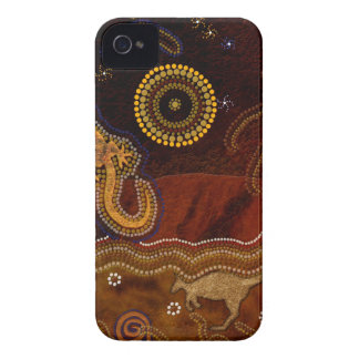 Australian Aboriginal Art Design iPhone 4 Case-Mate Cases