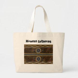 Australian Aboriginal Art - Food Gathering Large Tote Bag