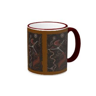 Australian Aboriginal Art Gift Ringer Coffee Mug