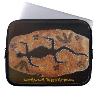 Australian Aboriginal Art Goanna & Animal Tracks Laptop Computer Sleeve