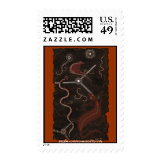 Australian Aboriginal Art Postage Stamps