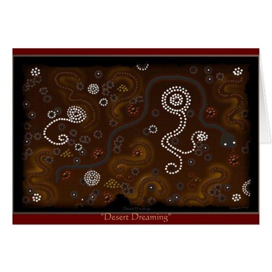 Australian Aboriginal Desert Art Card