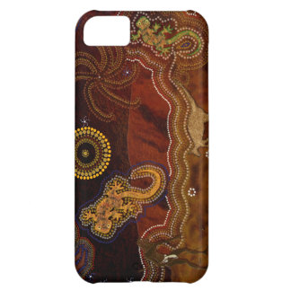 Australian Aboriginal Dreamtime Desert Art Cover For iPhone 5C