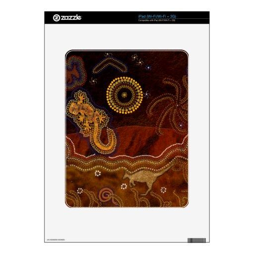 Australian Aboriginal Rustic Design Device Skin iPad Skin