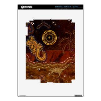 Australian Aboriginal Rustic Design Device Skin iPad 3 Decals