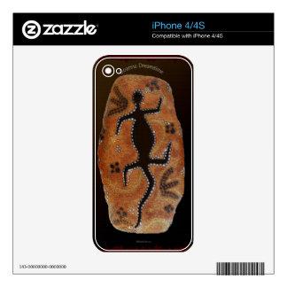 Australian Aboriginal Rustic Design Device Skin Skin For The iPhone 4S
