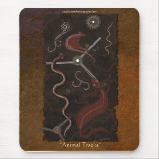 Australian Aboriginal Style Kangaroo, Snake Art Mouse Pad