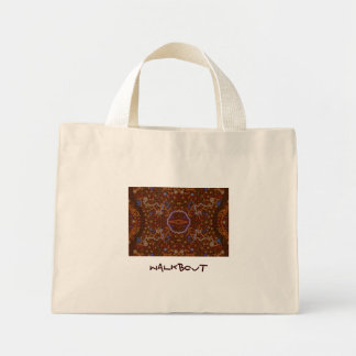 Australian Aboriginal-style Walkabout Art Design Mini Tote Bag