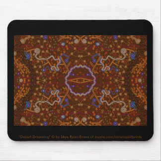 Australian Aboriginal-style Walkabout Art Design Mouse Pad