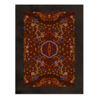 Australian Aboriginal-style Walkabout Art Design Postcard