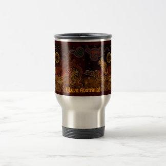 Australian Aboriginal-style Walkabout Art Design Travel Mug