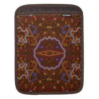 Australian Aboriginal-styled Outback Desert Art Sleeves For iPads
