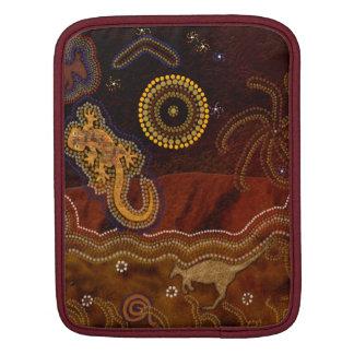 Australian Aboriginal-styled Outback Desert Scene iPad Sleeve