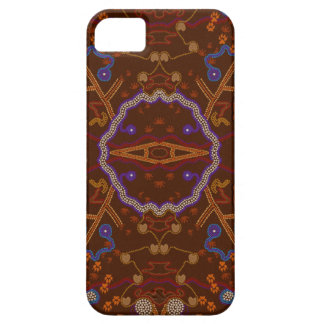 Australian Aborigine Walkabout with Animal Tracks iPhone SE/5/5s Case