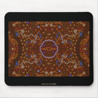 Australian Aborigine Walkabout with Animal Tracks Mouse Pad