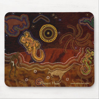 Australian Aborigines Hunting Kangaroo & Geckos Mouse Pad