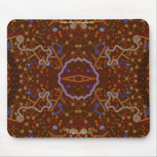 Australian Aborigines Walkabout with Animal Tracks Mouse Pad