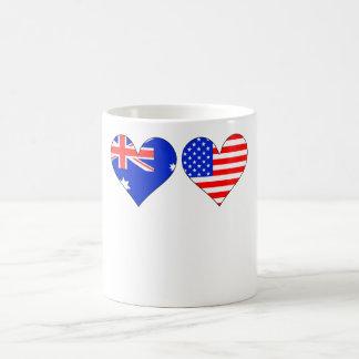 Australian American Hearts Coffee Mug