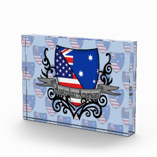 Australian-American Shield Flag Acrylic Award