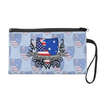 Australian-American Shield Flag Wristlet Clutch