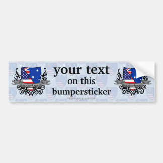 Australian-American Shield Flag Bumper Sticker