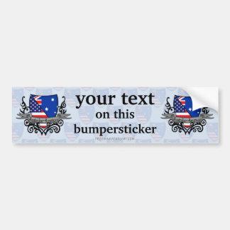 Australian-American Shield Flag Car Bumper Sticker
