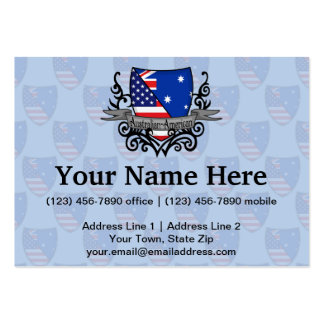 Australian-American Shield Flag Business Cards