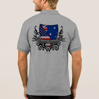 Australian-American Shield Flag Polo T-shirt