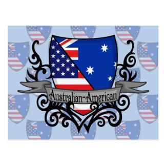 Australian-American Shield Flag Postcards