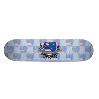 Australian-American Shield Flag Skate Board Deck
