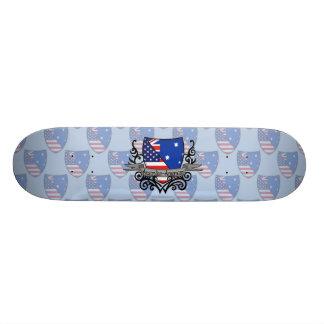 Australian-American Shield Flag Skateboards