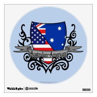 Australian-American Shield Flag Wall Decal