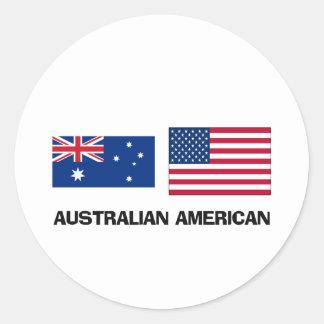 Australian American Classic Round Sticker
