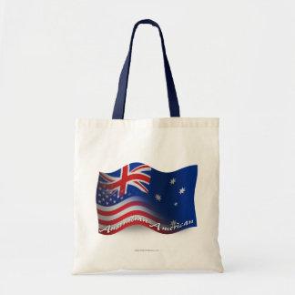 Australian-American Waving Flag Tote Bag