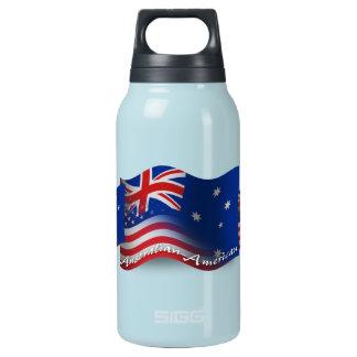 Australian-American Waving Flag Insulated Water Bottle