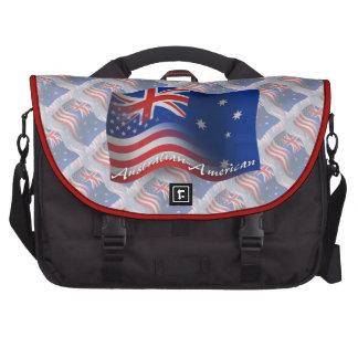Australian-American Waving Flag Laptop Commuter Bag
