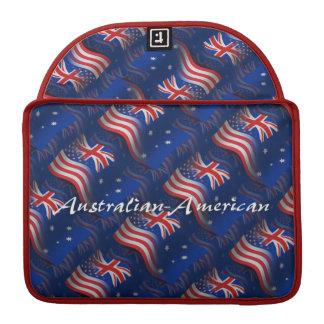 Australian-American Waving Flag Sleeve For MacBooks