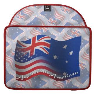 Australian-American Waving Flag MacBook Pro Sleeves