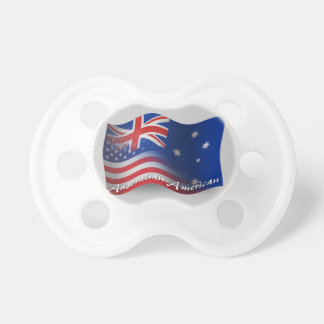 Australian-American Waving Flag Pacifier