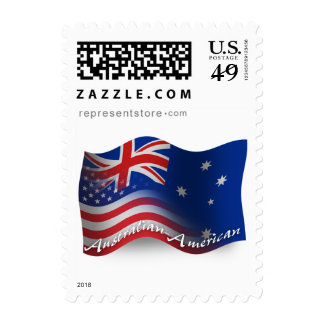 Australian-American Waving Flag Stamp