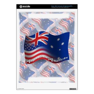 Australian-American Waving Flag Xbox 360 Decal