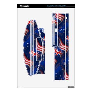 Australian-American Waving Flag PS3 Console Skins