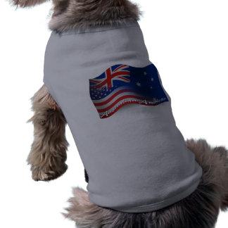 Australian-American Waving Flag T-Shirt